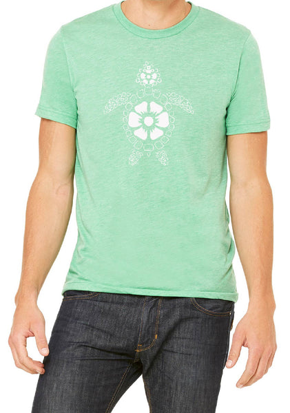Men's Beach Turtle Short Sleeved T-Shirt
