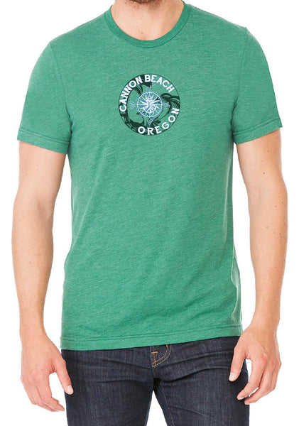 Men's Canon Beach Oregon Short Sleeved T-Shirt