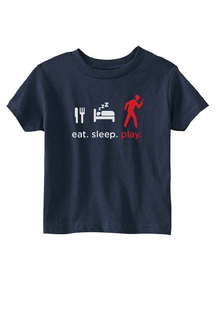 "Toddler ""Eat. Sleep. Play"" Short Sleeved T-Shirt"