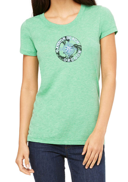 Women's Canon Beach Oregon Short Sleeved T-Shirt