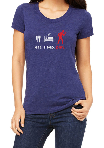 "Women's ""Eat. Sleep. Play"" Short Sleeved T-Shirt"