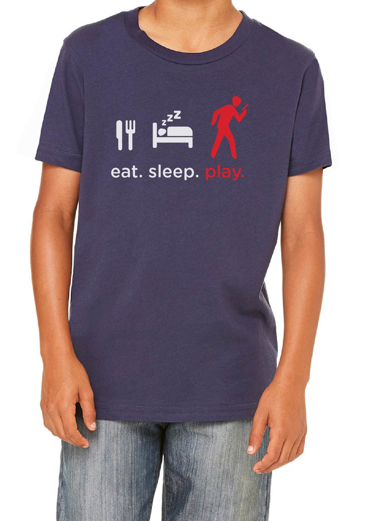 "Youth ""Eat. Sleep. Play."" Short Sleeved T-Shirt"