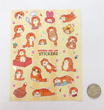 Cute Waffles Sticker Sheet