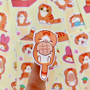 (Wholesale) Cute Waffles Sticker Sheet