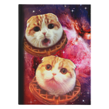 Space Waffles Hardcover Notebook