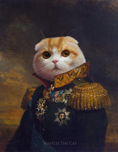 Royal Cat Portrait | Lord Waffles Funny Cat Poster