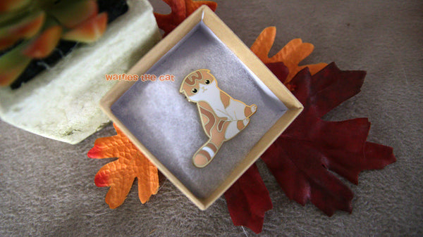 Waffles the Cat Pin