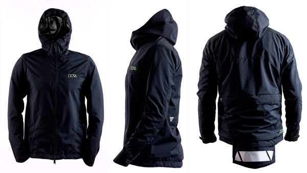 MOVA Freedom Ride Jacket 100% waterproof - front, side and back product view