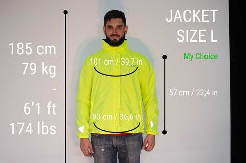 MOVA Cycling Jacket Sizing Guide Fabian L
