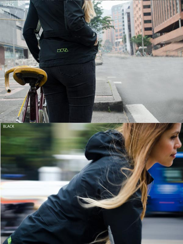 Mova freedom ride jacket black size m 100% waterproof