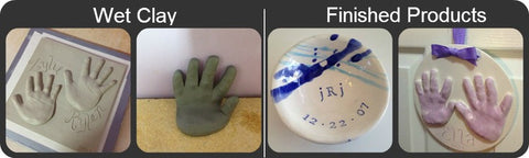 Clay handprint process from Memories In Clay