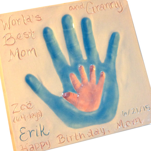 Mommy and Me Clay Handprint Keepsake - Memories In Clay