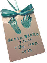 Load image into Gallery viewer, Newborn Baby Handprint Clay Keepsake - Memories In Clay