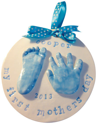 2 Handprint or Footprint Clay Keepsake - Memories In Clay