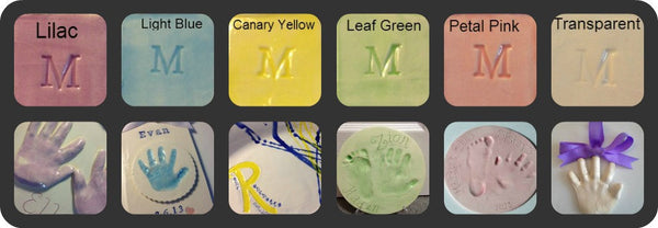 Baby Handprint or Footprint Clay Keepsake - Memories In Clay