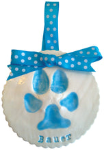 Load image into Gallery viewer, Dog Paw Print Clay Keepsake - Memories In Clay