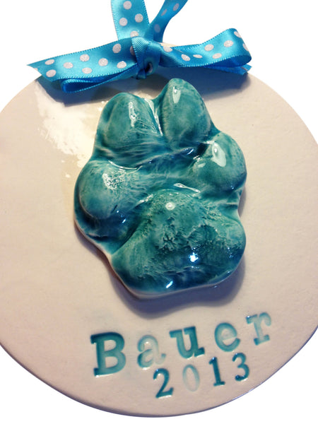 Dog Paw Print Clay Keepsake - Memories In Clay