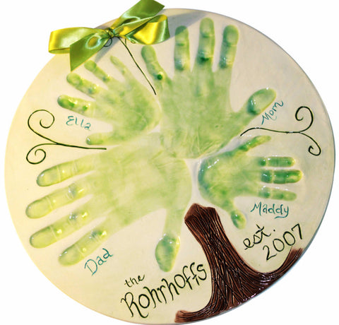 Clay Family Handprint Tree - Memories In Clay