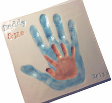 Load image into Gallery viewer, Daddy and Me Clay Handprint Keepsake - Memories In Clay