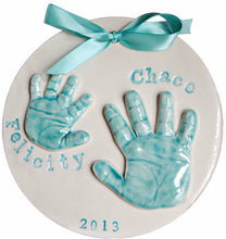 Load image into Gallery viewer, Sibling Clay Handprint Keepsake - Memories In Clay