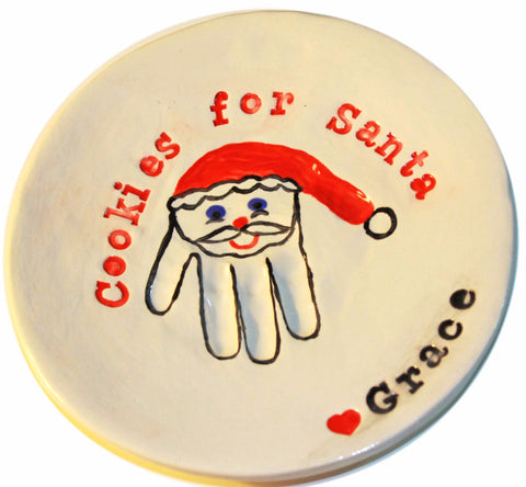 Christmas Cookie Handprint Serving Plate - Memories In Clay