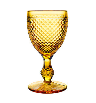 Bicos Amber Water Goblet, Set of 4