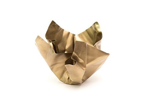 Paper 2 Bowl Tarnished Brass