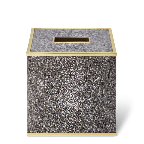 Classic Shagreen Tissue Box Cover Chocolate