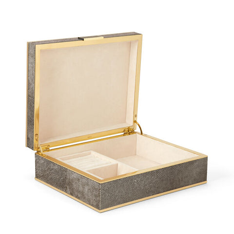 Classic Shagreen Large Jewelry Box