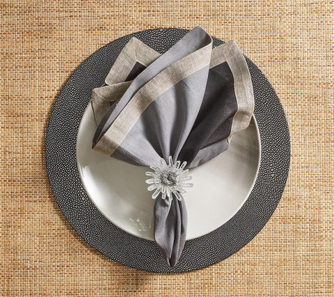 Pebble Placemat Gunmetal, Set of 4