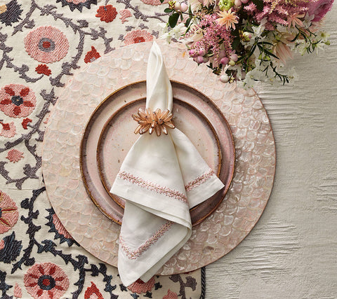 Camellia Placemat in Blush, Set of 4