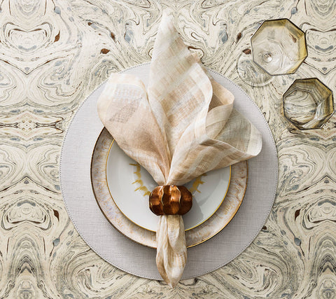 Capri Placemat in White, Set of 4