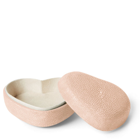 Shagreen Heart Box Blush
