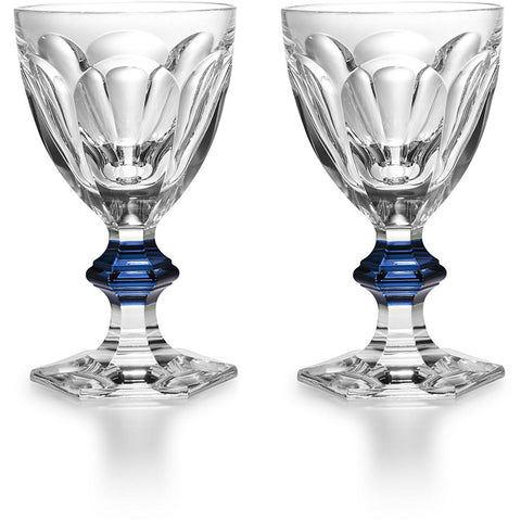 Harcourt 1841 Water Glass Clear & Blue, Set of 2