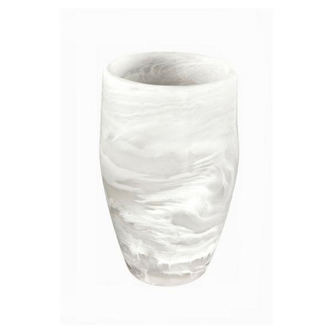 White Swirl Resin Classical Vase Medium