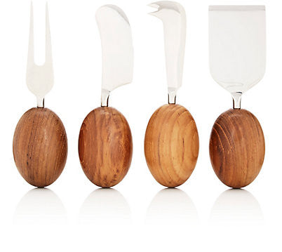 Teakwood Cheese Set