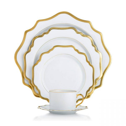 Antique White w/ Gold Dinnerware