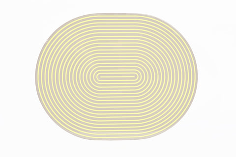 Gray & Yellow Lacquer Stripe Placemat