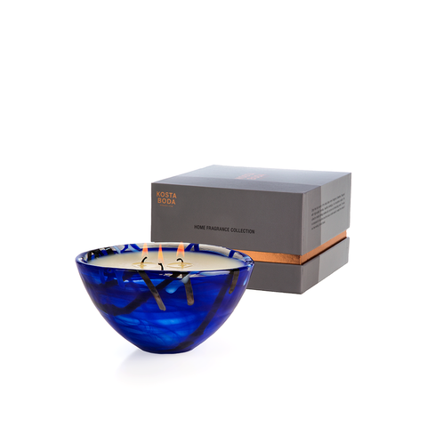 Contrast Bowl Blue Small Candle