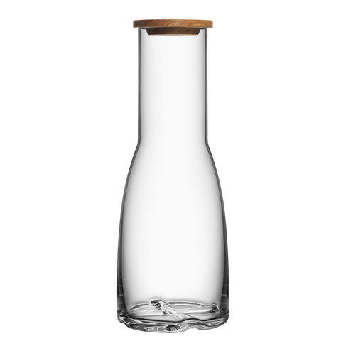 Bruk Carafe with Oak Lid Clear
