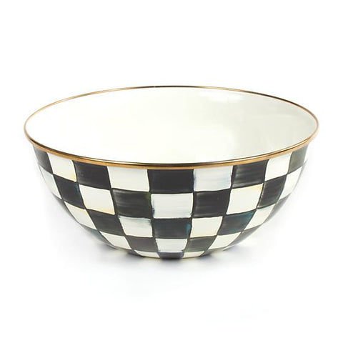 Courtly Check Enamel Everyday Bowl Large