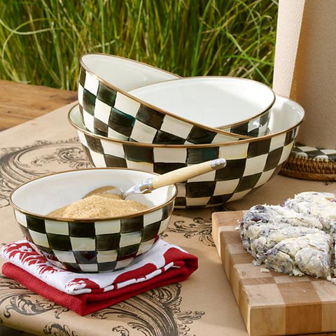 Courtly Check Enamel Everyday Bowl Extra Large