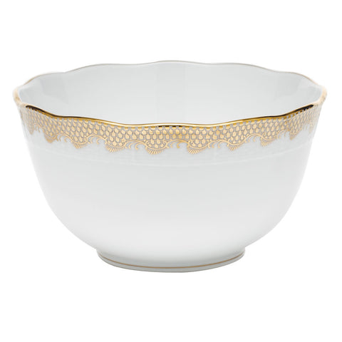 Fish Scale Round Bowl Gold