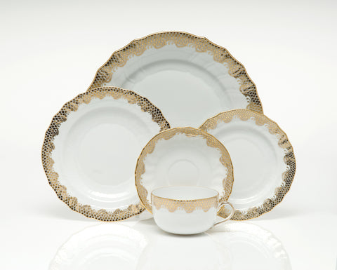 Fish Scale Dinnerware Gold