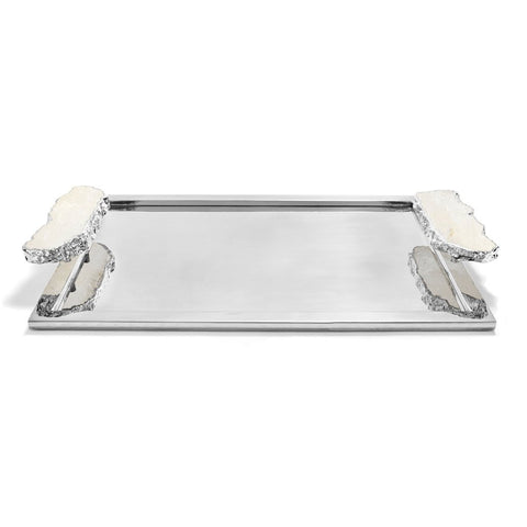 Heritage Crystal & Silver Tray