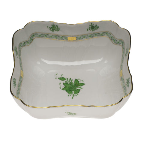 Chinese Bouquet Green Square Salad Bowl