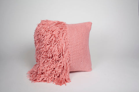 Betty Fringe Pillow Pink