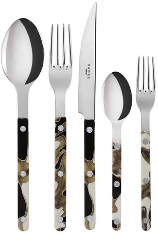Bristrot Dune Black Shiny Five Piece Place Setting