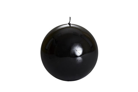 Black Ball Candle Large