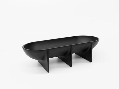 Matte Black Large Standing Bowl